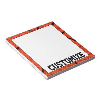 コーチのためのカスタムなバスケットボールチーム名前のメモ帳 ノートパッド