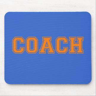 コーチのオレンジのフォント マウスパッド