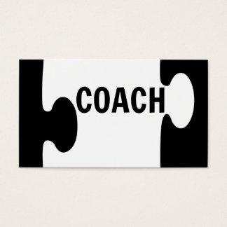 コーチのパズルの部分の名刺 名刺