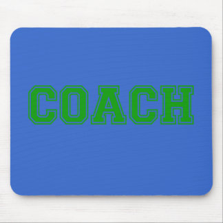 コーチの緑のフォント マウスパッド