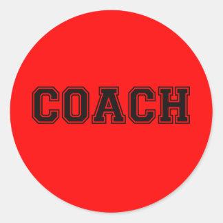 コーチの黒いフォント ラウンドシール