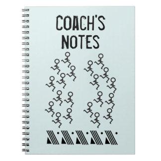 -コーチを走ることをカスタマイズ ノートブック