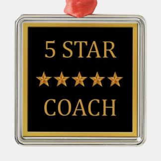 コーチ5最高賞の黒の金ゴールドのオーナメント メタルオーナメント