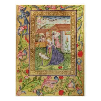 コーデックスSer 39v 11月2599日f.キリストの誕生 ポストカード