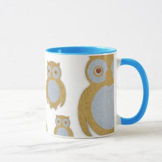 コーデュロイのフクロウ マグカップ