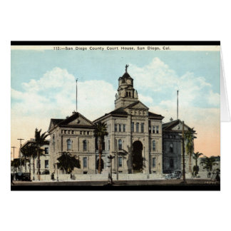 コート・ハウスサンディエゴカリフォルニア1921年 カード