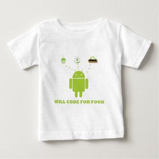 コードしますのために食糧(人間の特徴をもつソフトウェア開発者) ベビーTシャツ
