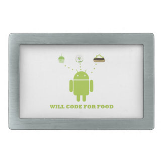 コードしますのために食糧(人間の特徴をもつソフトウェア開発者) 長方形ベルトバックル