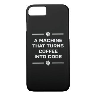 コードにコーヒーを回す機械 iPhone 8/7ケース