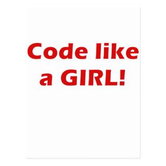 コードは女の子を好みます ポストカード