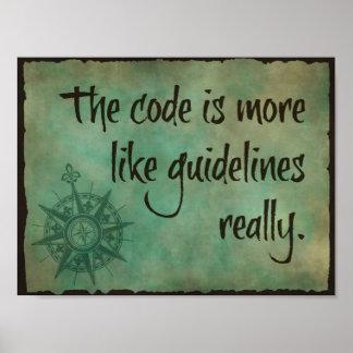 コードは指針のような多くです ポスター