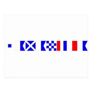 コード旗サマンサ ポストカード