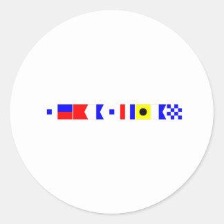 コード旗セバスチャン ラウンドシール