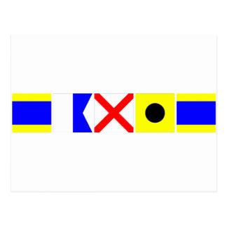 コード旗デイヴィッド ポストカード