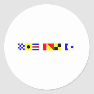 コード旗ニコラス ラウンドシール
