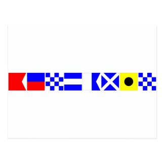 コード旗ベンジャーミン ポストカード