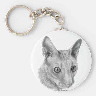 コーニッシュのレックス猫 キーホルダー