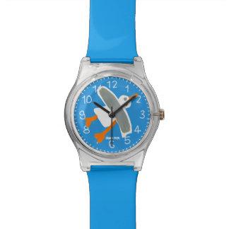 コーニッシュの青い芸術の腕時計: ジョンのダイアーのコーニッシュのカモメ 腕時計