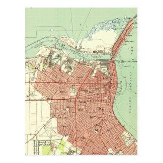 コーパス・クリスティテキサス州(1951年)のヴィンテージの地図 ポストカード