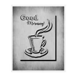コーヒーおはよう! アクリルウォールアート