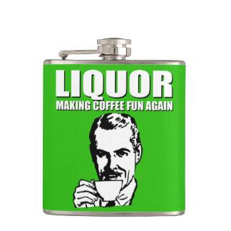 コーヒーおもしろいを再度作ります フラスク