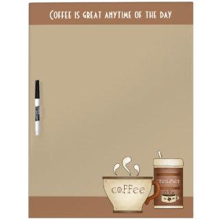 コーヒーおよびクリーム ホワイトボード