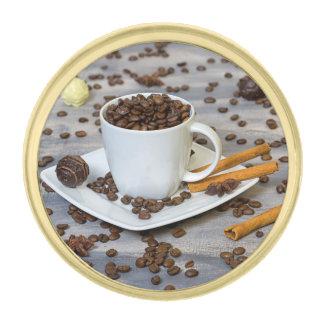 コーヒーおよびスパイス ゴールド ラペルピン