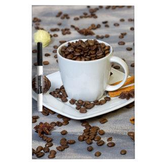コーヒーおよびスパイス ホワイトボード