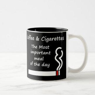コーヒーおよびタバコのマグ ツートーンマグカップ