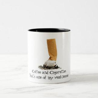 コーヒーおよびタバコ ツートーンマグカップ