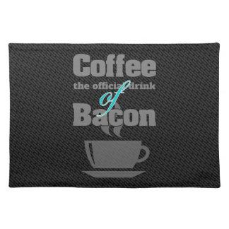 コーヒーおよびベーコン ランチョンマット