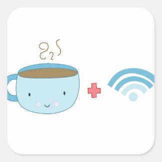 コーヒーおよびWifi スクエアシール