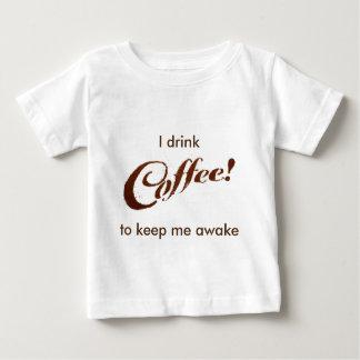 コーヒーかすのコーヒー-幼児ワイシャツ ベビーTシャツ