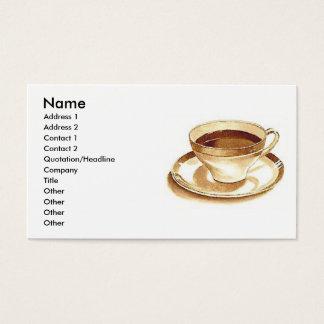コーヒーか茶 名刺