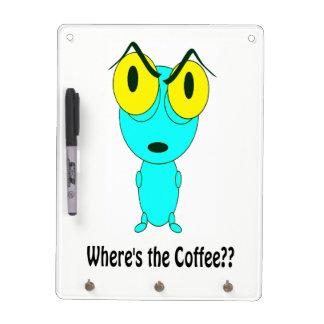 コーヒーがあるところ、外国の漫画 ホワイトボード