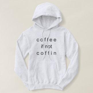 コーヒーそうでなかったら棺のフード付きスウェットシャツ パーカ