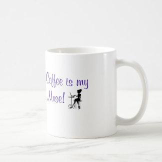 """""""コーヒーです私のムーサ!""""は めい想のマグフィートのリスト コーヒーマグカップ"""