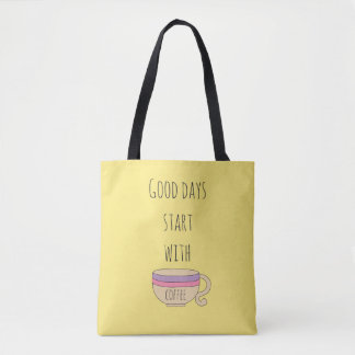 コーヒーとのよい日の開始 トートバッグ