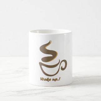 コーヒーと目覚めて下さい コーヒーマグカップ