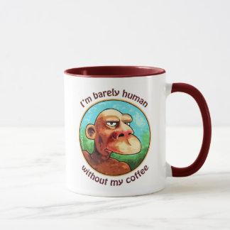 コーヒーなしでやっと人間 マグカップ