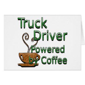 コーヒーによって動力を与えられるトラックの運転手 カード
