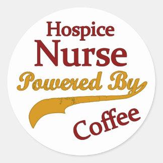 コーヒーによって動力を与えられるホスピスのナース ラウンドシール