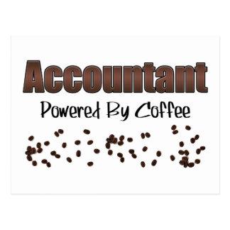 コーヒーによって動力を与えられる会計士 ポストカード