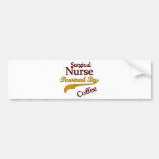 コーヒーによって動力を与えられる外科ナース バンパーステッカー