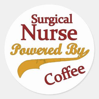 コーヒーによって動力を与えられる外科ナース ラウンドシール