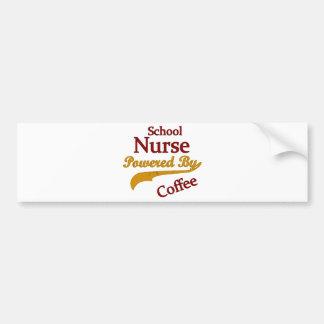 コーヒーによって動力を与えられる学校のナース バンパーステッカー