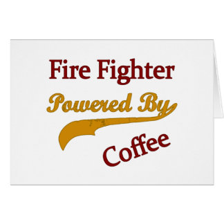コーヒーによって動力を与えられる消防士 カード