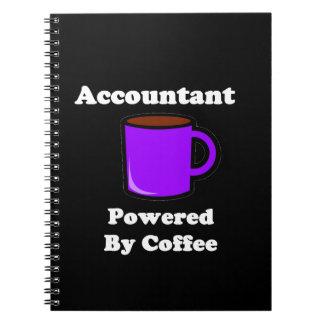 """コーヒーによって動力を与えられる""""会計士"""" ノートブック"""