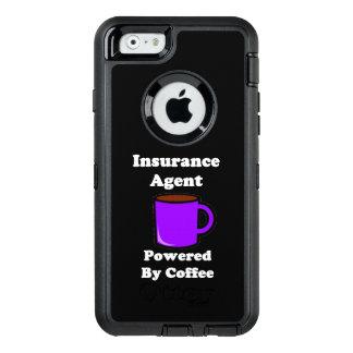 """コーヒーによって動力を与えられる""""保険代理店"""" オッターボックスディフェンダーiPhoneケース"""