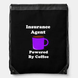 """コーヒーによって動力を与えられる""""保険代理店"""" ナップサック"""